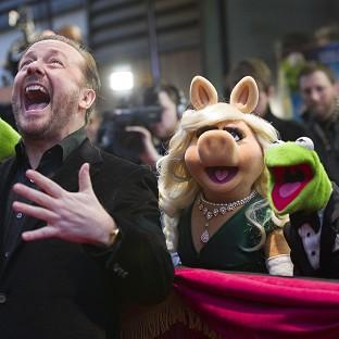 Ricky Gervais with the Muppets