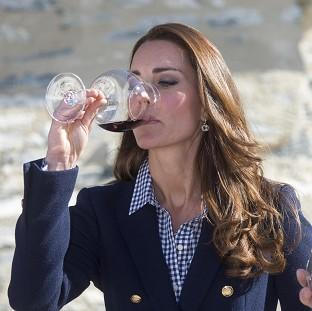 Salisbury Journal: The Duchess of Cambridge told wine-makers she was really enjoying being able to drink again after giving birth.