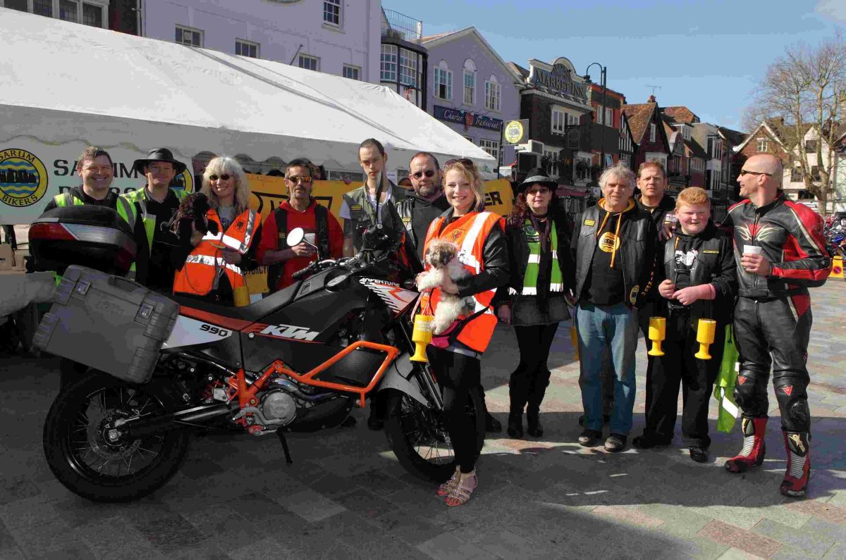 Motorcycle show in Market Place
