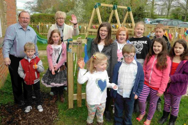 Salisbury Journal: New play park opened in Semley