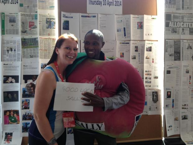 Salisbury Journal: Sally Orange with Kenya's Geoffrey Mutai