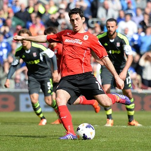 Peter Whittingham equalised for Cardiff from the penalty spot