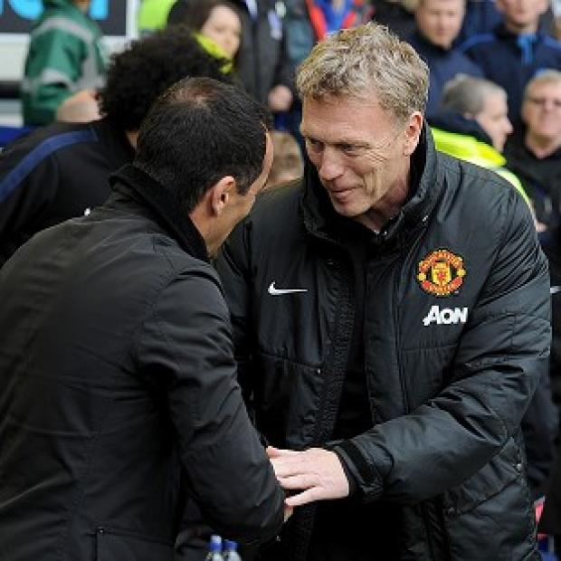 Salisbury Journal: Manchester United manager David Moyes, right, was on the losing side on his return to Goodison Park