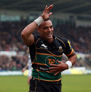 Kahn Fotuali'i crossed the line in Northampton's nervy victory over London Irish