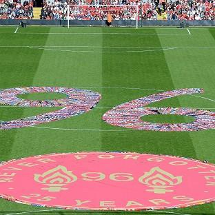 Fans' scarves make up a 96, filling the centre circ