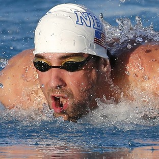 Michael Phelps, pictured, finished second to Ryan Lo