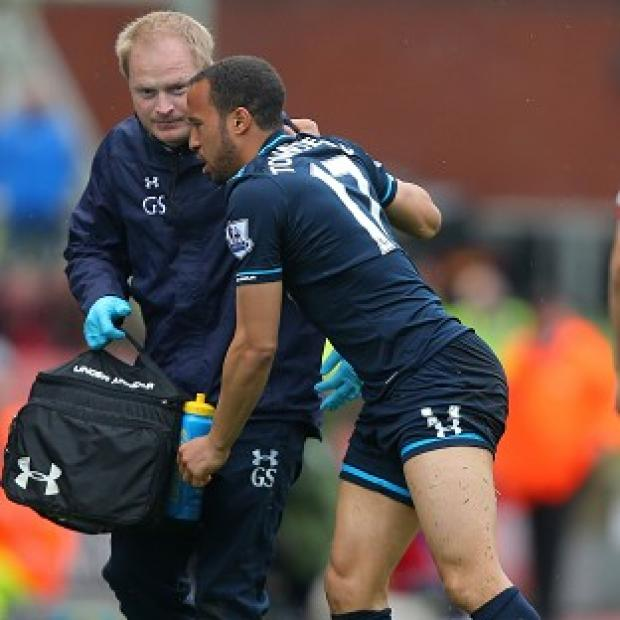 Salisbury Journal: Andros Townsend picked up an ankle injury in Tottenham's win over Stoke on Saturday