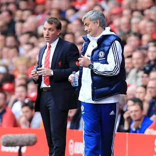 Jose Mourinho, right, has no problem with Brendan Rodgers