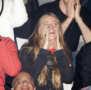 Salisbury Journal: Cressida Bonas heckles as Prince Harry gives a speech at the inaugural WE Day UK at Wembley Arena in London