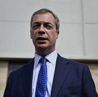 Salisbury Journal: Nigel Farage was hit by an egg on a campaign visit to Nottingham