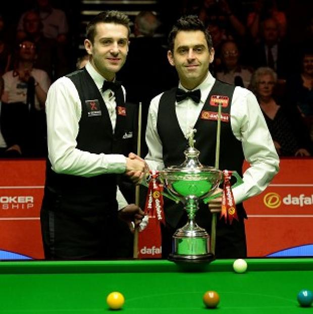 Salisbury Journal: Ronnie O'Sullivan, right, has tipped Mark Selby to win further World Championship titles