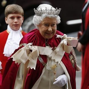 Salisbury Journal: The Queen arrives for the Order of the Bath Service at Westminster Abbey.