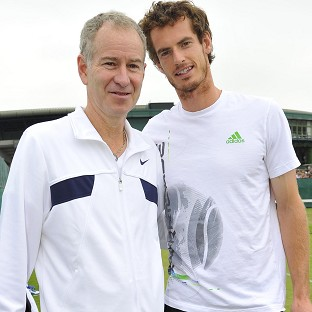 Andy Murray, right, says he has always got on well with John McEnroe
