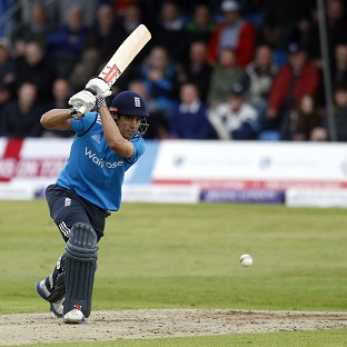 Alastair Cook scored 44 as his side secured a 39-run ODI win over Scotland