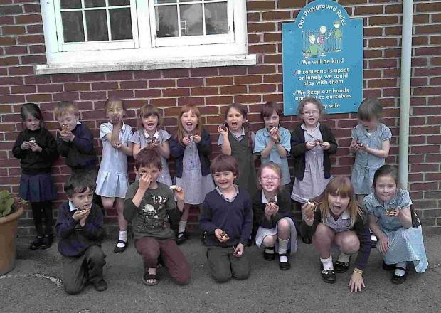 Pupils at Breamore Primary School have fun at their new after school club