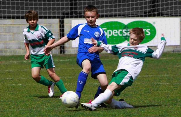 Alderbury and South Newton youngsters battle in a cup clash
