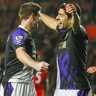 Steven Gerrard, left, says Luis Suarez is the best player he has ever played alongside
