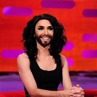 Conchita Wurst appears on the Graham Norton Show