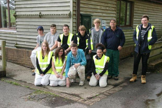 Students give lakes visitor centre a revamp