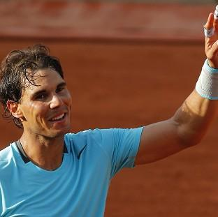 Rafael Nadal dropped just three games against Robby Ginepri in the first round of the French Open (AP)