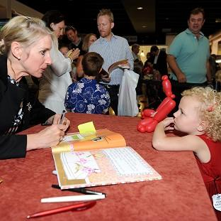 Salisbury Journal: Children's author Lauren Child during a book signing