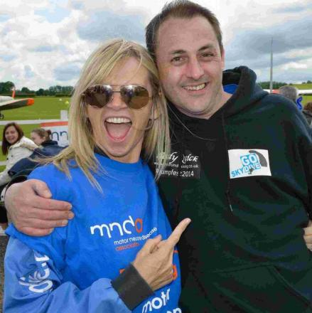 Zoë Ball skydives for charity