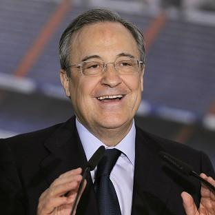 Florentino Perez, pictured, claims Sir Alex Ferguson wanted Carlo Ancelotti to succeed him
