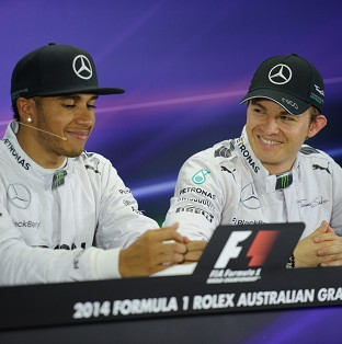 Lewis Hamilton, left, has held constructive talks with German team-mate Nico Rosberg