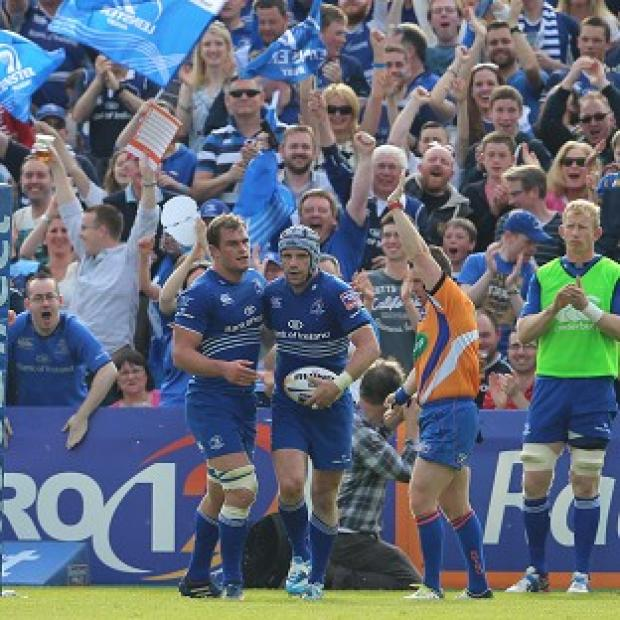 Salisbury Journal: Shane Jennings celebrates his try in Leinster's victory