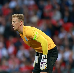 Joe Hart is focused on the task at hand with England