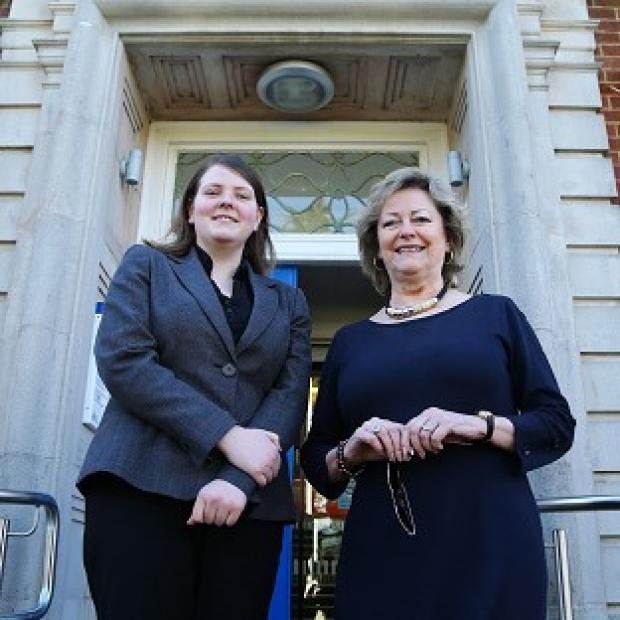 Salisbury Journal: Suspended youth commissioner Kerry Boyd, left, with Kent police and crime commissioner Ann Barnes
