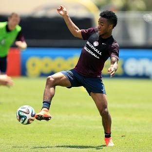 England's Raheem Sterling is impressing in training