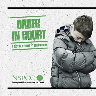 A poster for the NSPCC Order in Court campaign