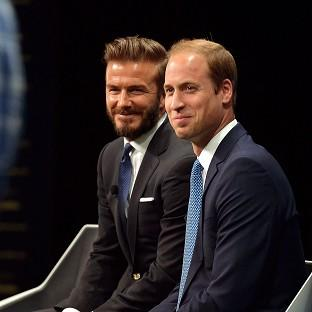 David Beckham joined the Duke of Cambridge to launch a new campaign using the power of sport to combat illegal trade in wildlife products