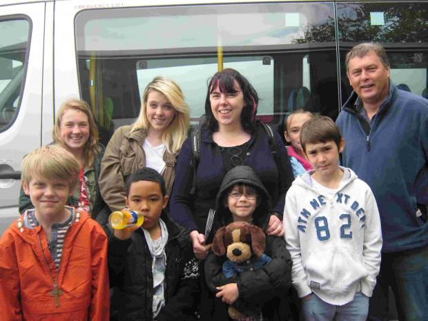Young carers from the New Forest at Paulton's Park