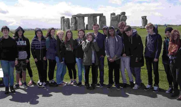 Class 10 students from Ringwood Waldorf School at Stonehenge