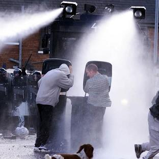 Water cannon have previously been deployed in