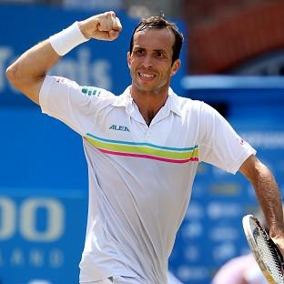 Radek Stepanek, pictured, defeated Kevin Anderson in three sets