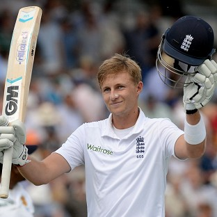 Joe Root celebrates his maiden Test double-century at Lord's
