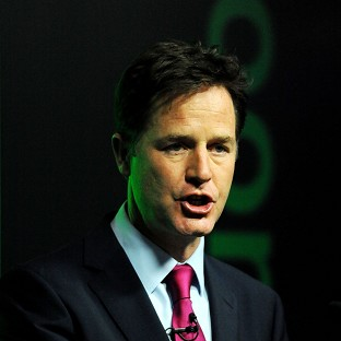 Nick Clegg is at odds with the Tories ove