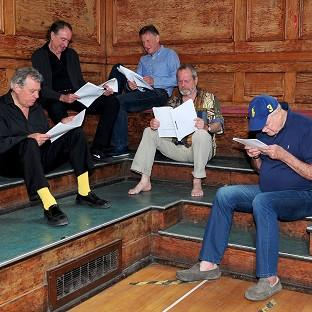 Salisbury Journal: Terry Jones, Eric Idle, Michael Palin, Terry Gilliam and John Cleese are hard at work rehearsing for Monty Python Live (Mostly)