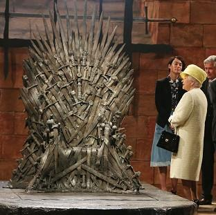 Salisbury Journal: The Queen during a visit to the set of Game of Thrones in Northern Ireland
