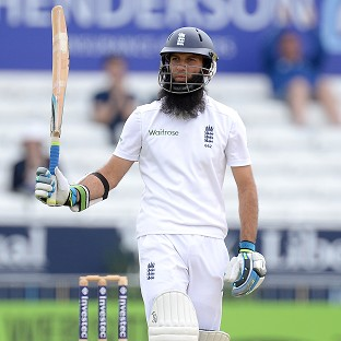 Moeen Ali made a half-century as the hosts fought to save the second Investec Test against Sri Lanka