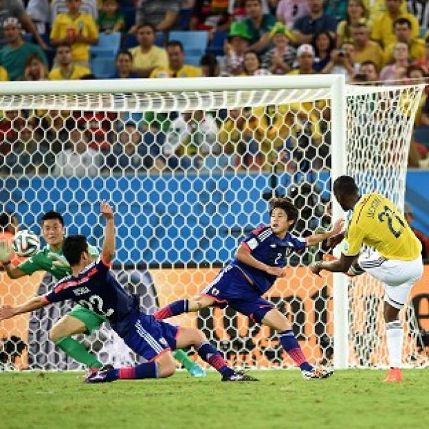 Salisbury Journal: Jackson Martinez fires home the third Colombia goal