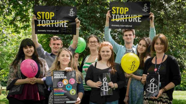 Salisbury Journal: Members of the Burgate School and Sixth Form's young Amnesty International group