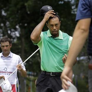 Tiger Woods showed signs of rustiness on his return to action after back surgery (AP)