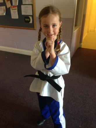 Alysha, 6, gains major belt