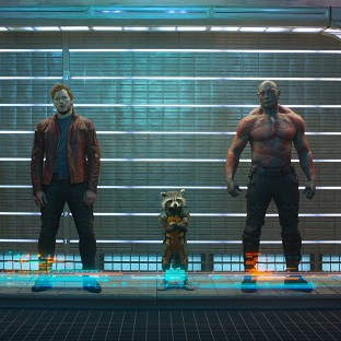Bradley Cooper plays Rocket the raccoon (centre) in Guardians Of The Galaxy