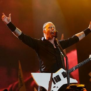 Salisbury Journal: James Hetfield of Metallica performing on the Pyramid Stage at the Glastonbury Festival