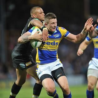 Leeds Rhinos' Liam Sutcliffe kept his nerve late on as his side beat Catalan Dragons